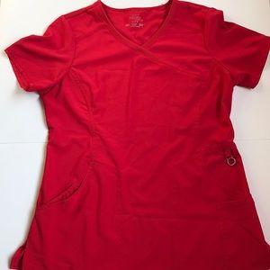 Cherokee infinity red scrub top